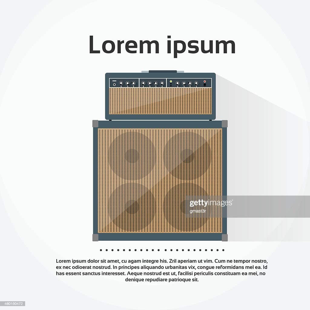 Amplifier Combo Rock Music Equipment Concept Flat