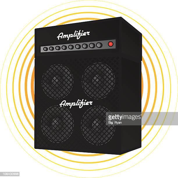 ilustraciones, imágenes clip art, dibujos animados e iconos de stock de amplificador - bajo eléctrico