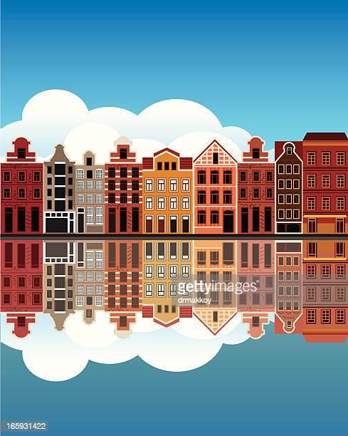 canal de Amesterdão casas