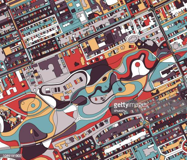 amsterdam city structure ilustration - north holland stock illustrations