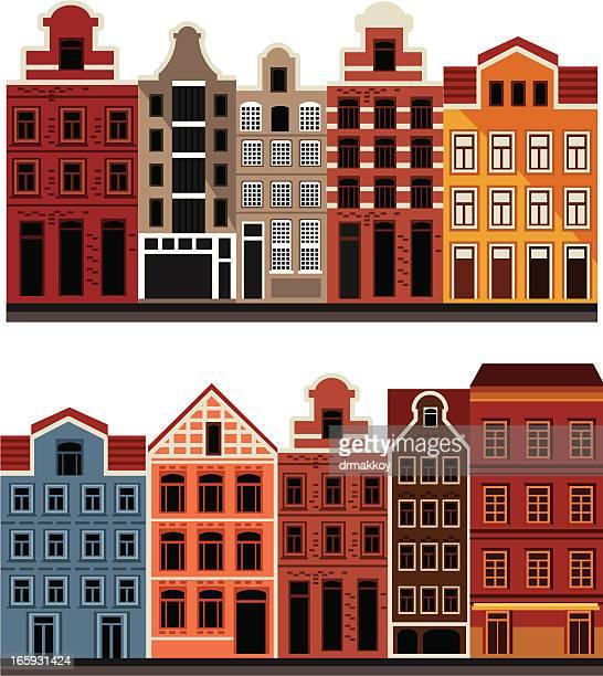 amsterdam house - amsterdam stock illustrations, clip art, cartoons, & icons