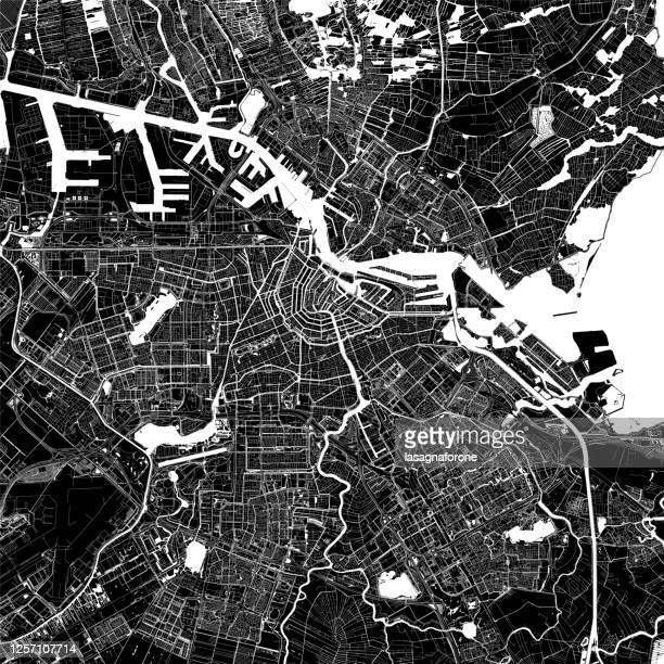 amsterdam, netherlands vector map - amsterdam stock illustrations