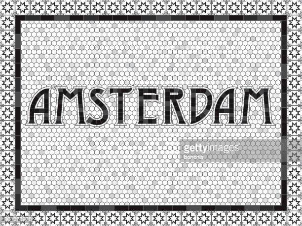 Amsterdam Old Fashioned Mosaic Tile Typography