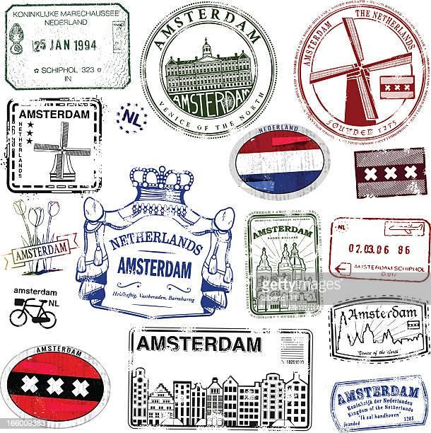 Amesterdão selos Vintage