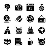 Amusement Activities Glyph Icons