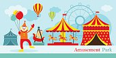 Amusement Park, Circus, Clown
