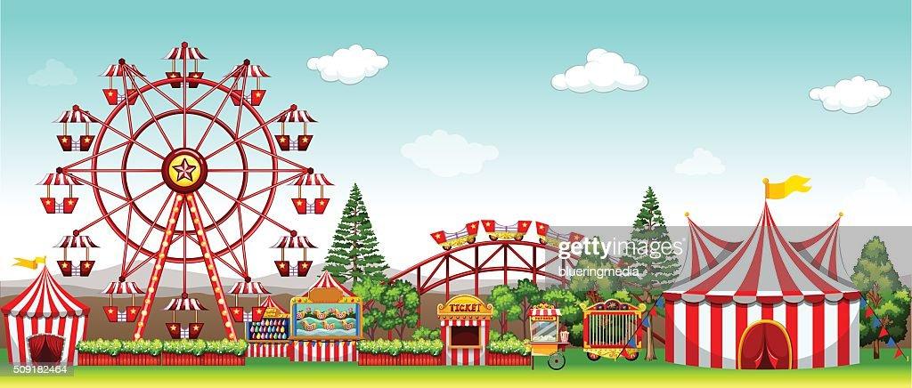 Amusement park  daytime