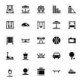 Amusement Park Glyph Icons
