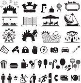 Amusement park icons.
