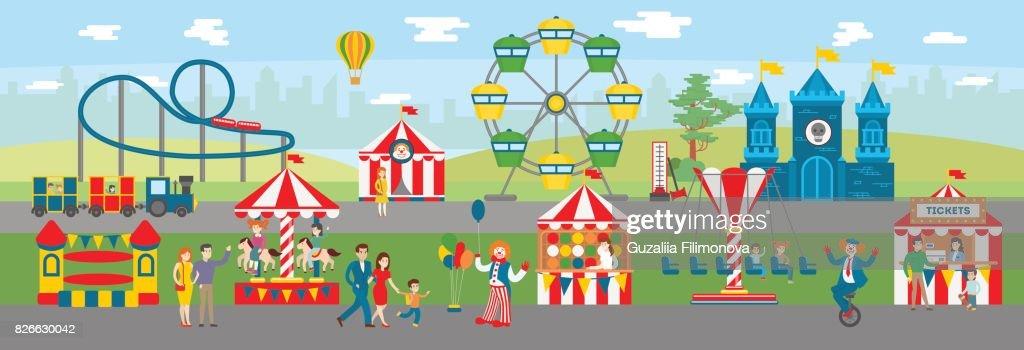 Amusement park illustration.