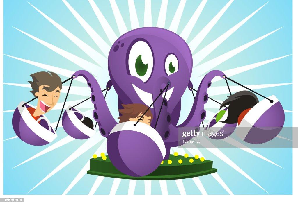 Amusement Park Octopus Game Super fun ride