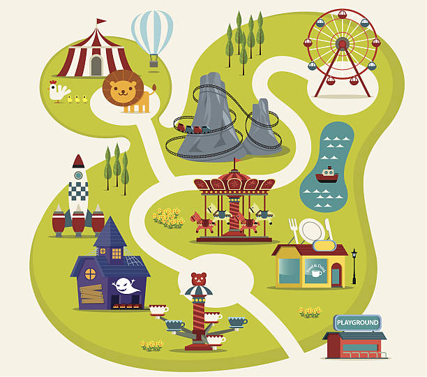 amusement park - fantasy stock illustrations
