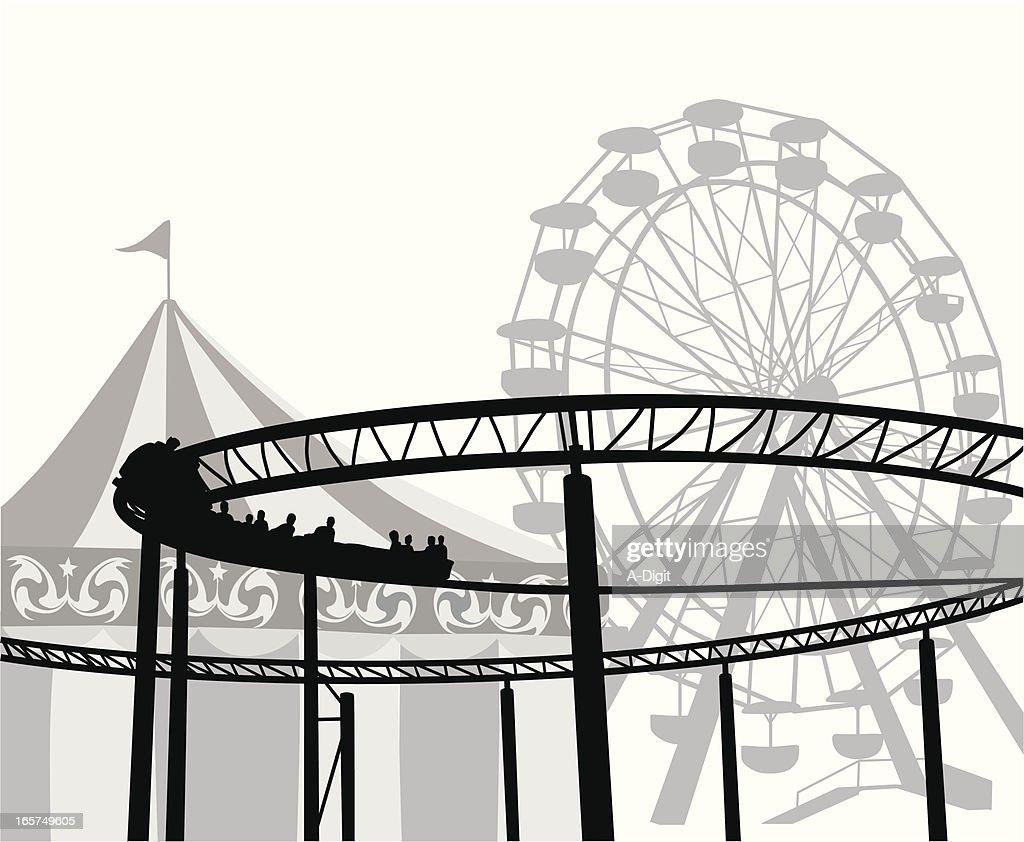 Amusement Ride Vector Silhouette
