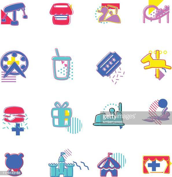 amusement - fashion collection stock illustrations