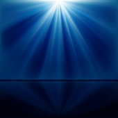 An abstract blue and white background with beams of light