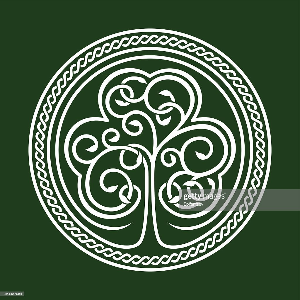 An abstract emblem relating to St. Patrick's Day
