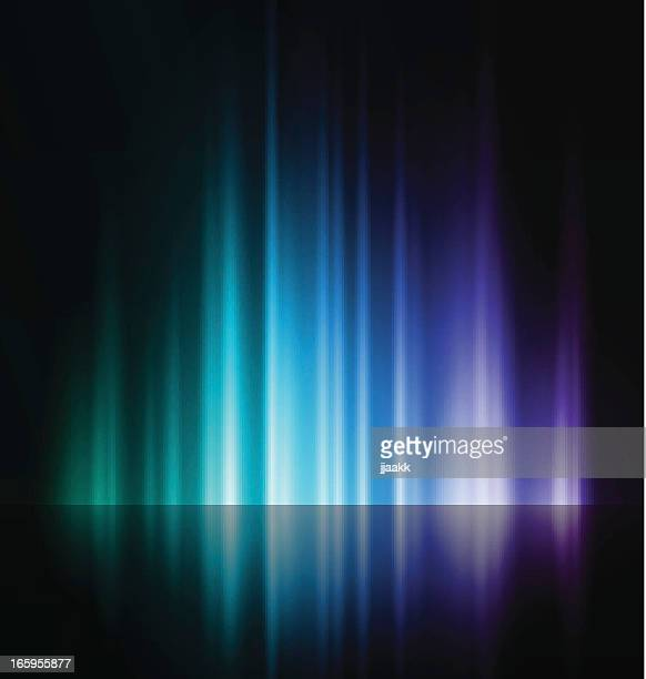 an abstract image of a rising blue and purple light - light effect stock illustrations