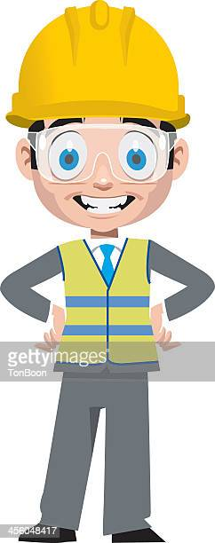 An animated picture of a Contractor smiling
