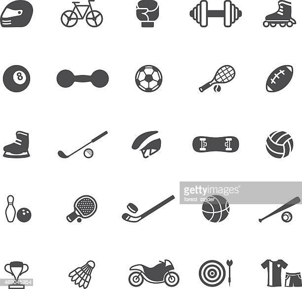 An arrangement of sport and activity icons