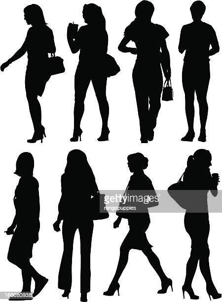 An assortment of female silhouettes