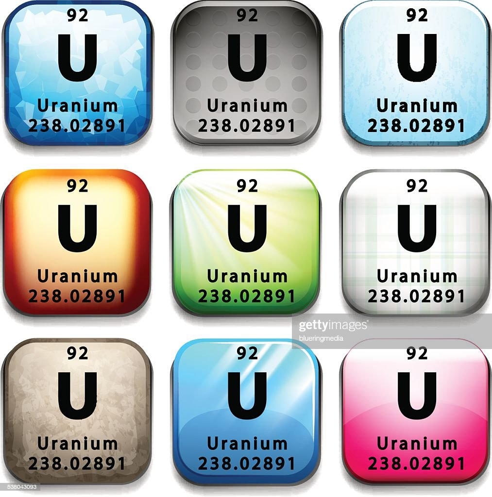 An icon showing the element Uranium