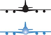 An illustration of a huge airplane about to land