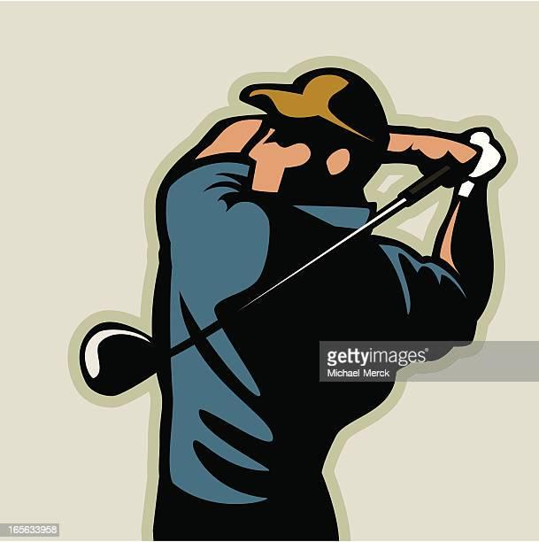 ilustrações de stock, clip art, desenhos animados e ícones de balanço de golfe - golf tournament