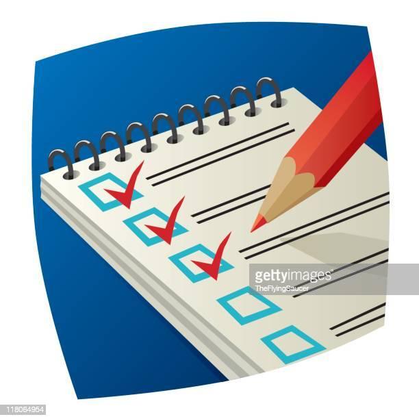 ilustrações, clipart, desenhos animados e ícones de passando - preencher um formulário