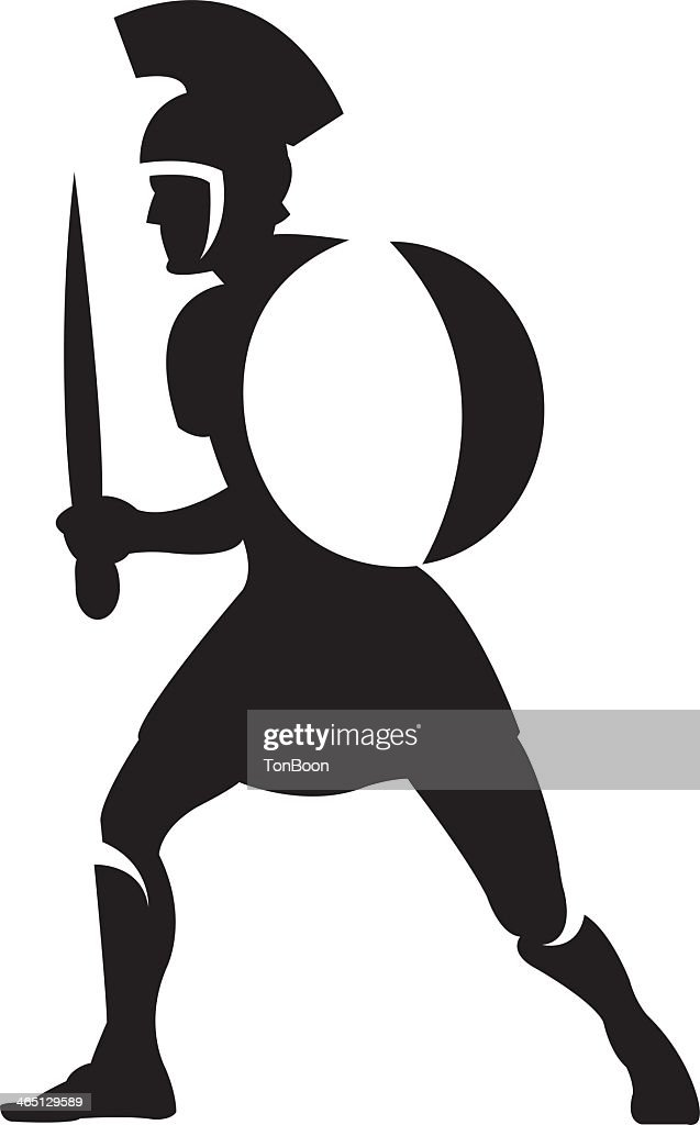 An illustration of a roman soldier