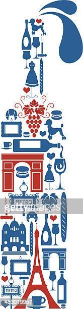 ilustraciones, imágenes clip art, dibujos animados e iconos de stock de vino francés - cultura francesa