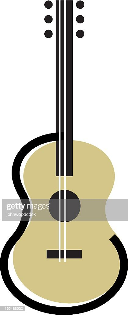 An illustration of an acoustic guitar