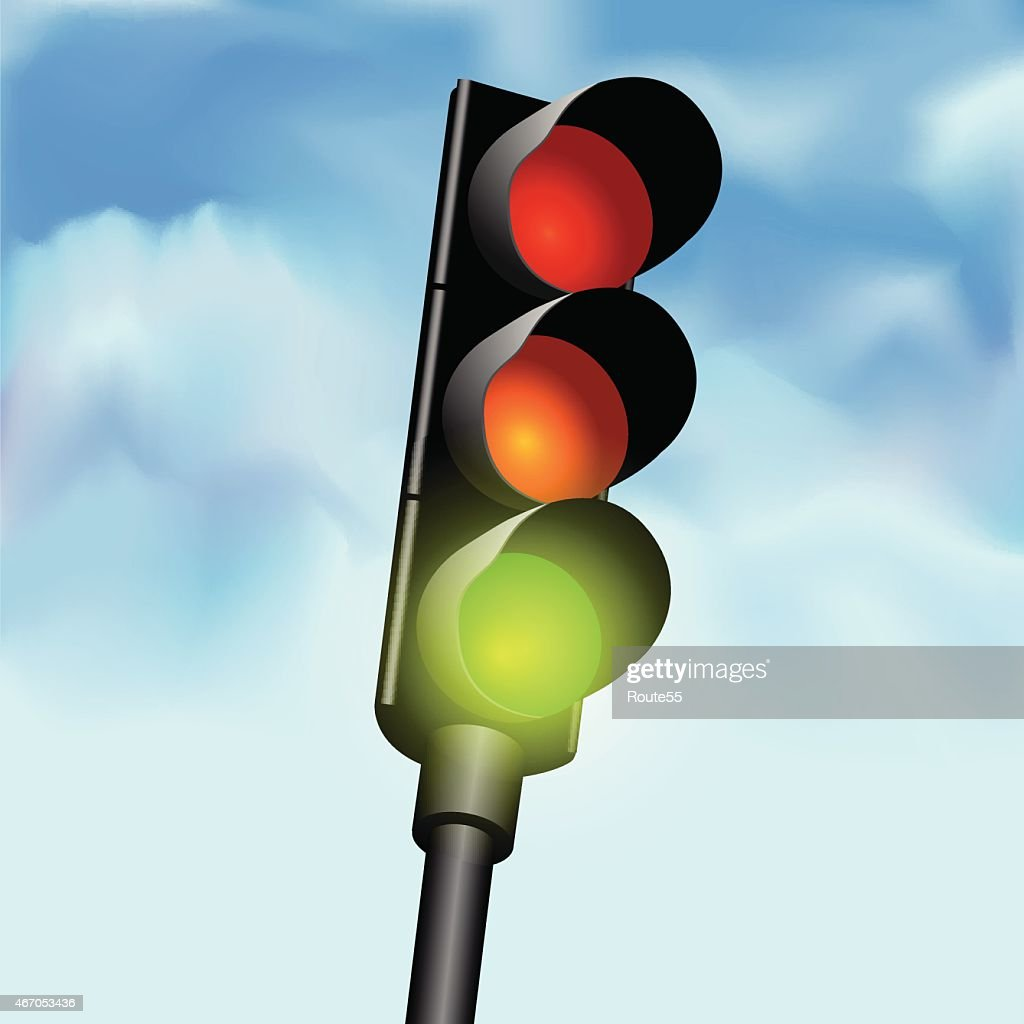 An illustration of traffic lights