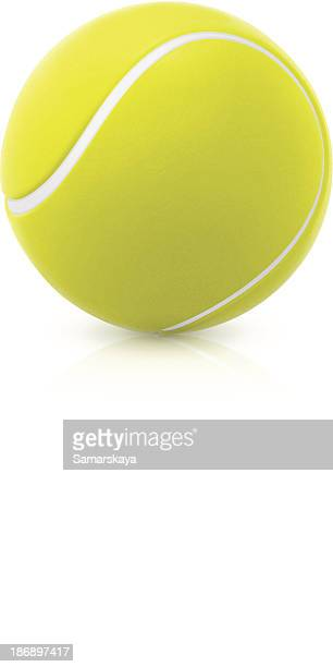 an image of a green round tennis ball - tennis stock illustrations