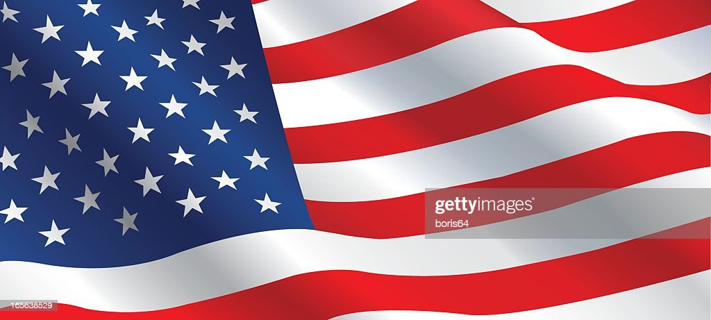 An image of the American Flag waving in the wind