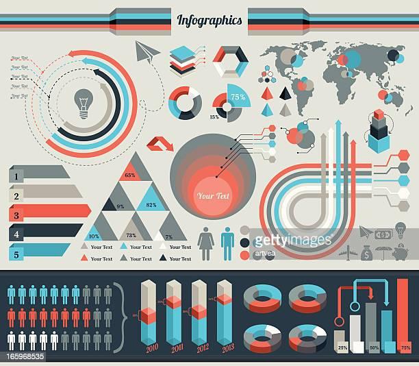 ilustrações, clipart, desenhos animados e ícones de elementos para infográficos - elemento de desenho
