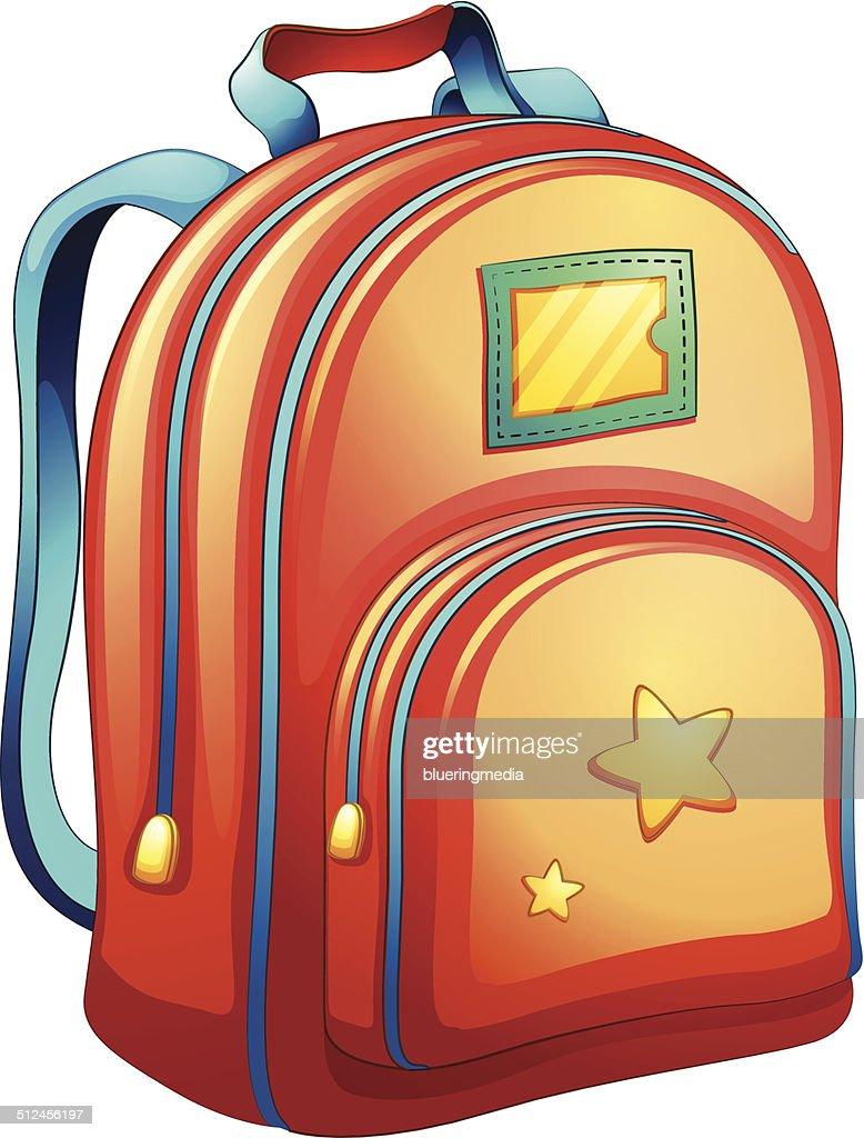 An orange schoolbag