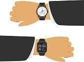 Analog and smart watch.