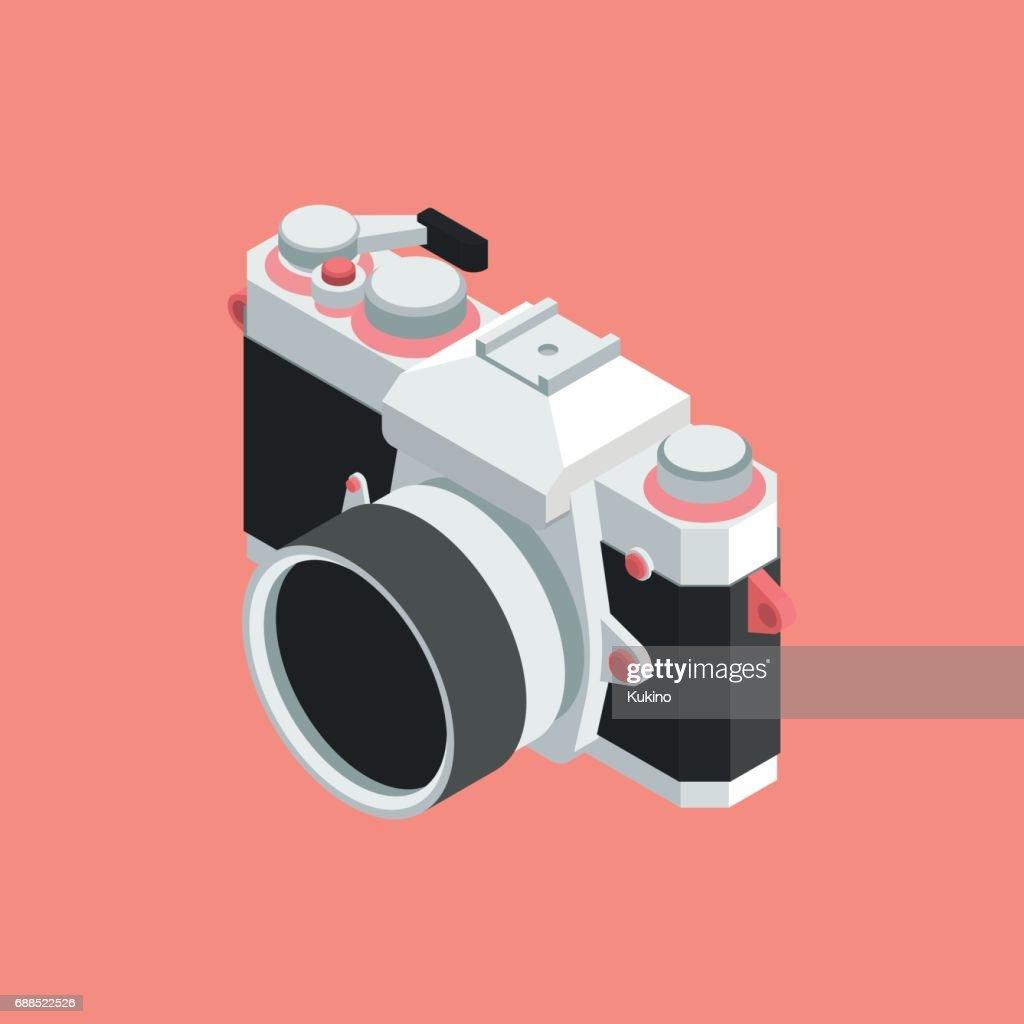 Analog SLR Camera Vector Illustration VOL.01