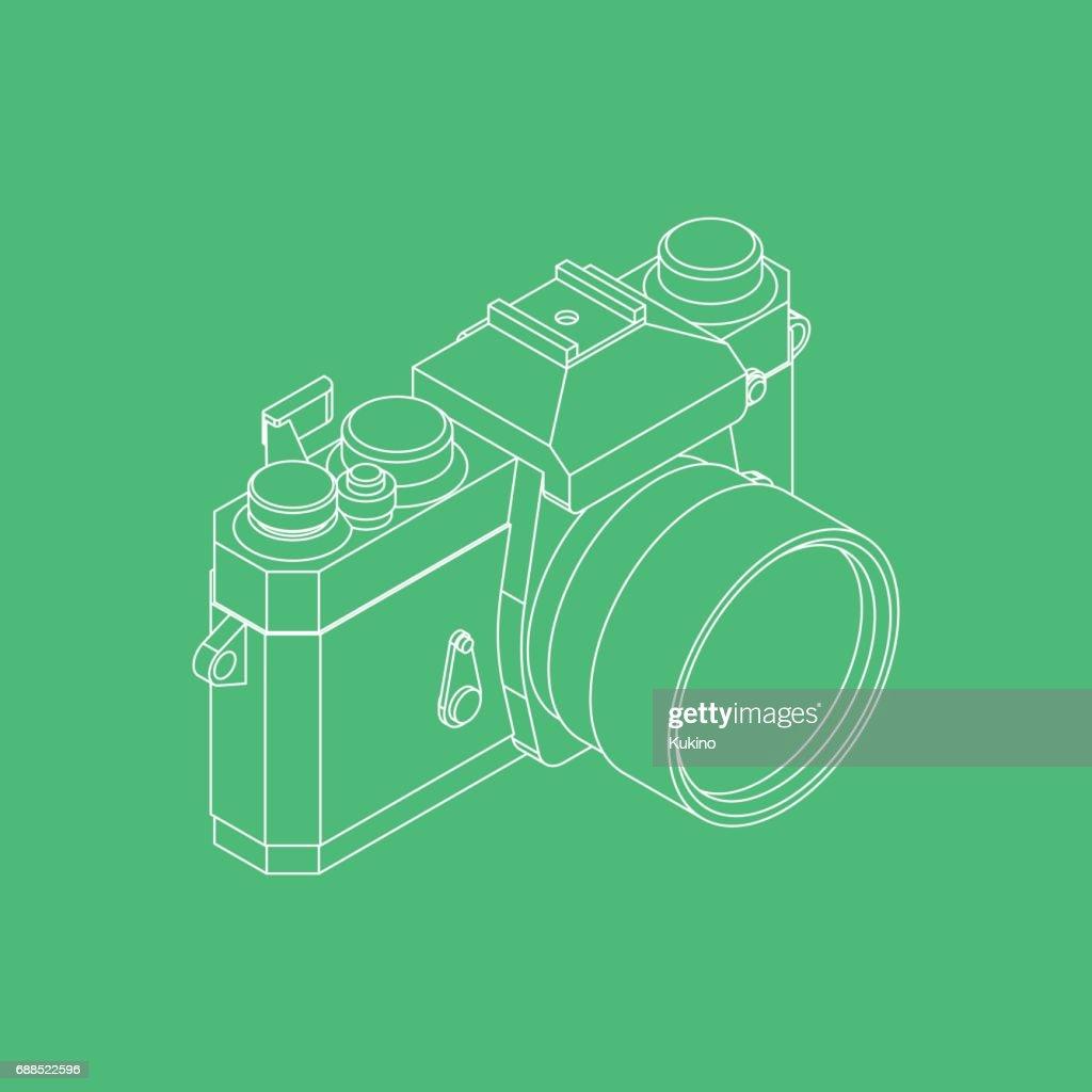 Analog SLR Camera Vector Illustration VOL.03