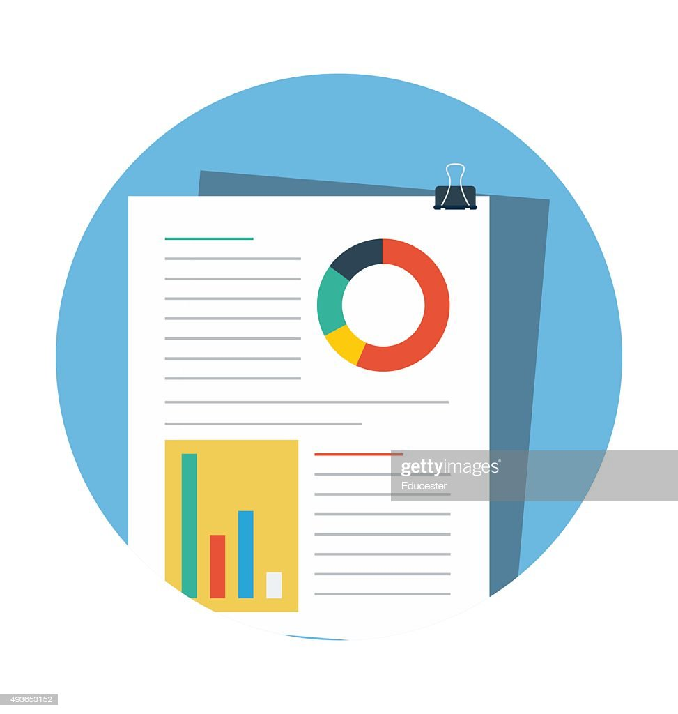 Analysis File Colored Vector Illustration