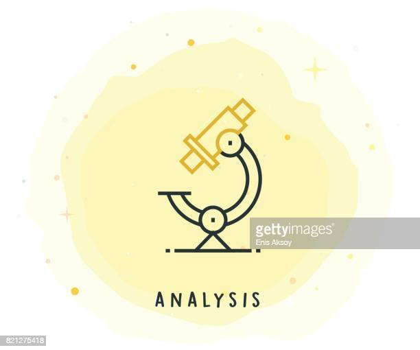 Analysis Icon with Watercolor Patch