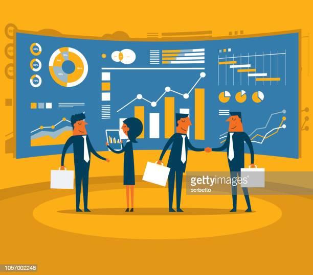 illustrazioni stock, clip art, cartoni animati e icone di tendenza di analisi - professione finanziaria