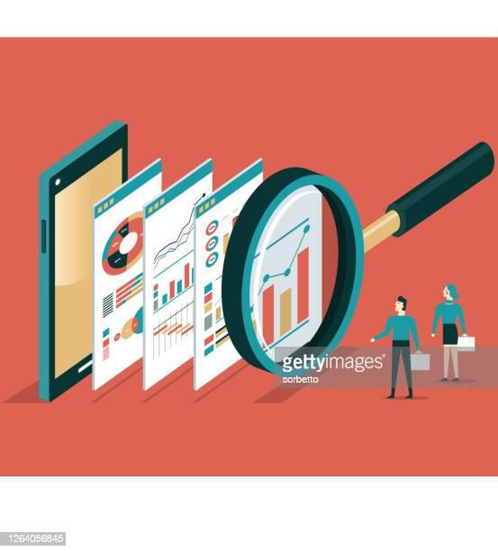 analysis - scrutiny stock illustrations