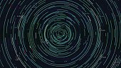 Analytical spiral of information, futuristic infographics, vector background