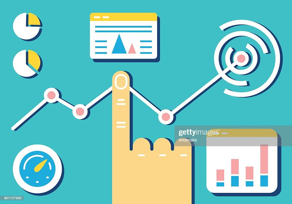 Analytics and e-management of data on dashboard