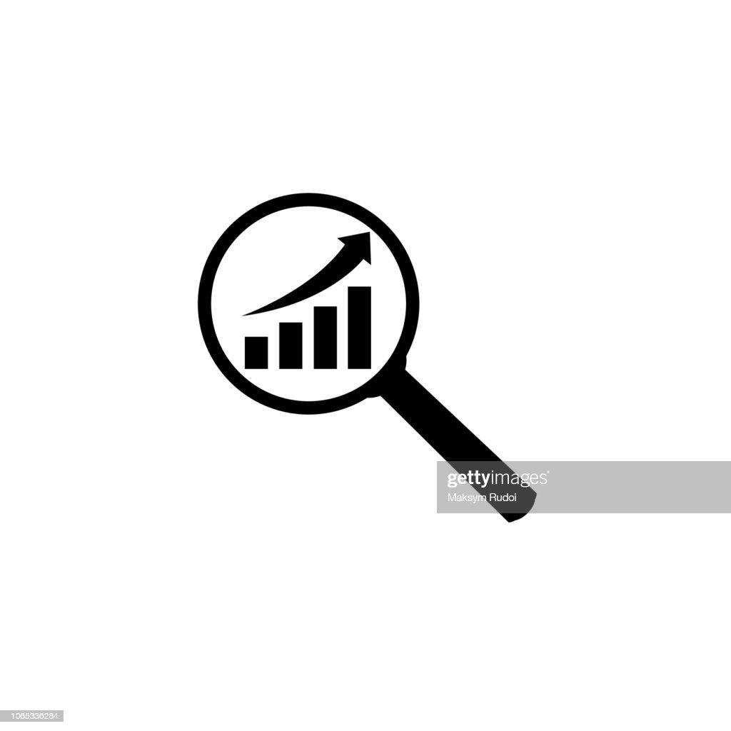 Analytics icon on a white background