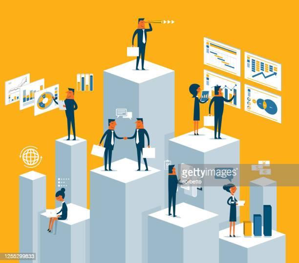 analyze - chart - big data isometric stock illustrations