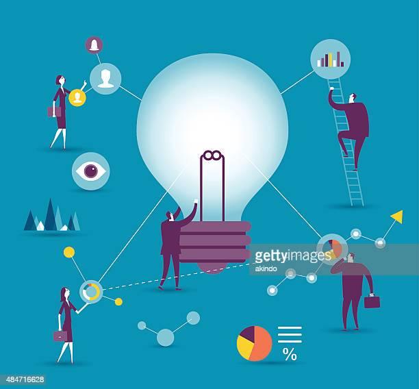 ilustrações, clipart, desenhos animados e ícones de analisar - organização