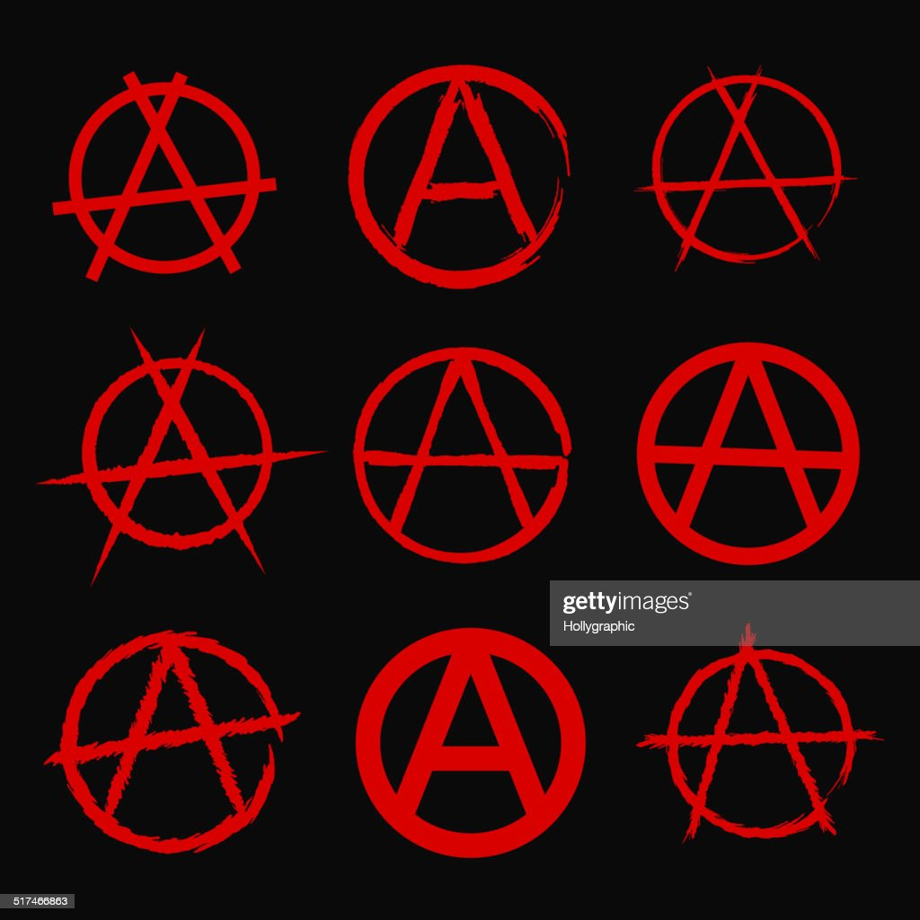 Anarchy Symbol Vector Art Getty Images