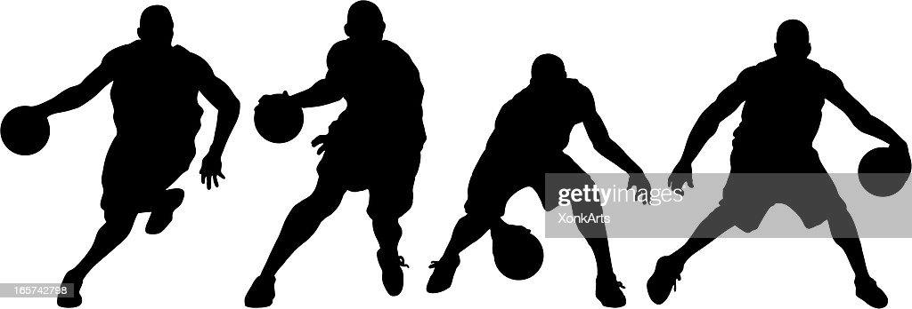 basketball silhouette collection vector art getty images rh gettyimages com playing basketball silhouette vector basketball silhouette vector free